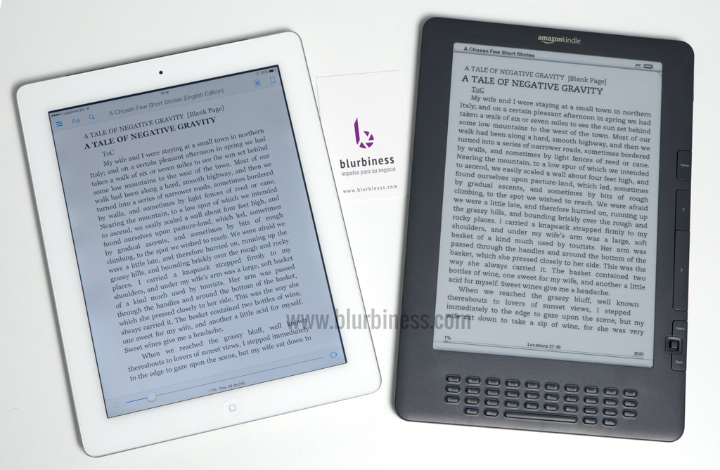 An eBook reader and a Tablet