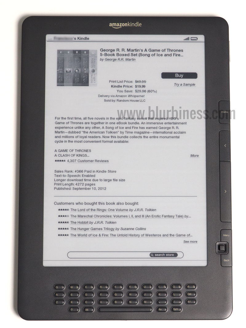 Buying eBooks directly from the Amazon Kindle