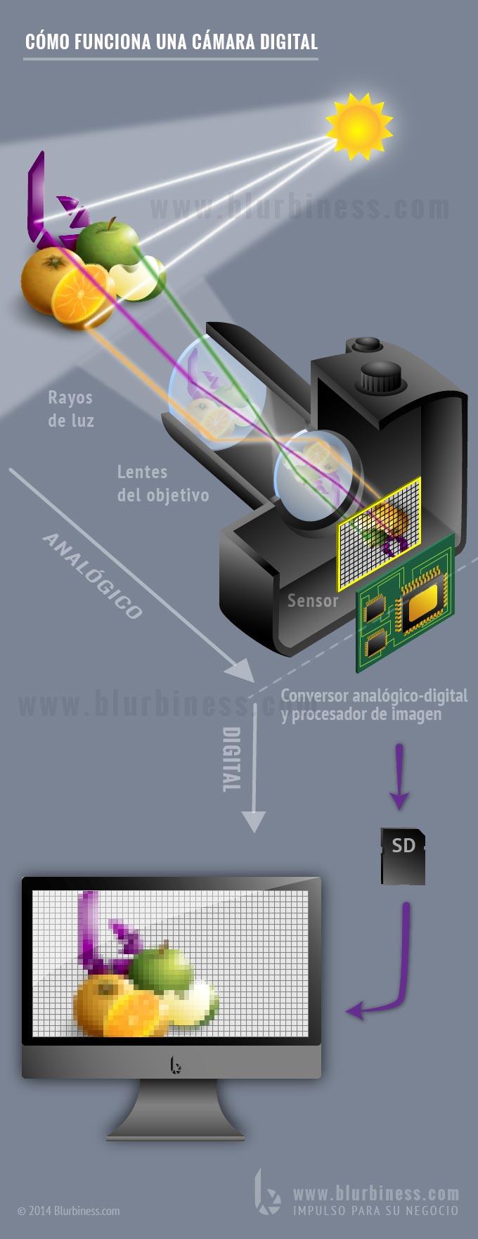 Cómo funciona una cámara digital