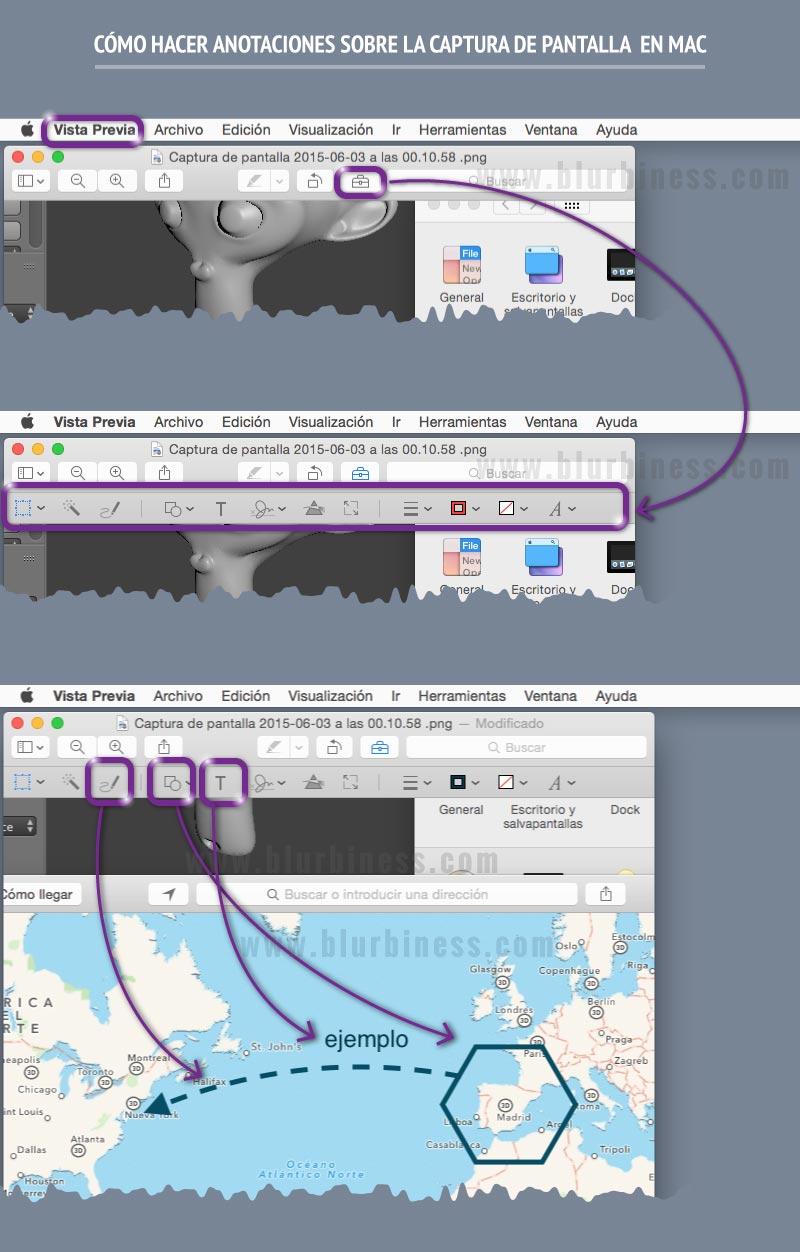 Cómo hacer anotaciones sobre la captura de pantalla en Mac