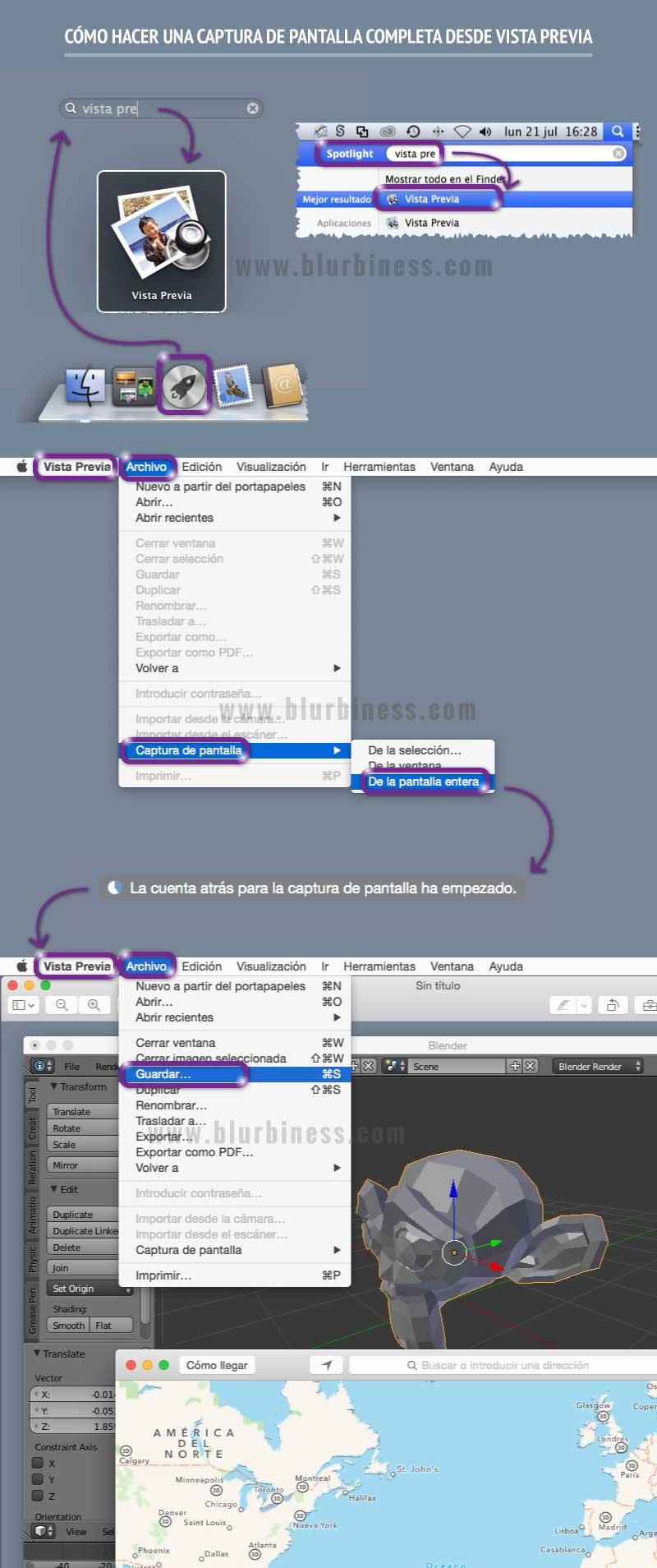 Cómo hacer una captura de pantalla completa desde Vista Previa en Mac