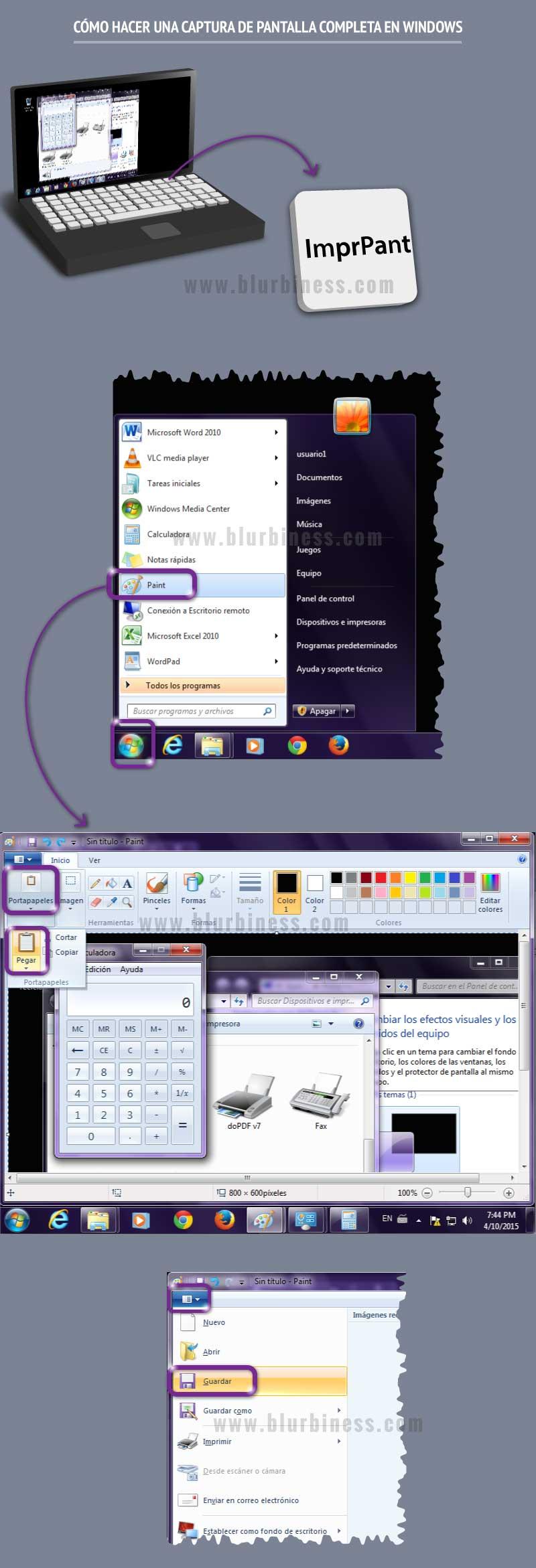 Cómo hacer una captura de pantalla completa en Windows