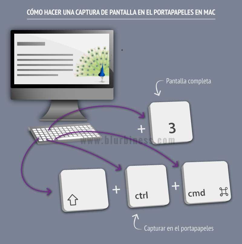 Cómo hacer una captura de pantalla en el portapapeles en Mac