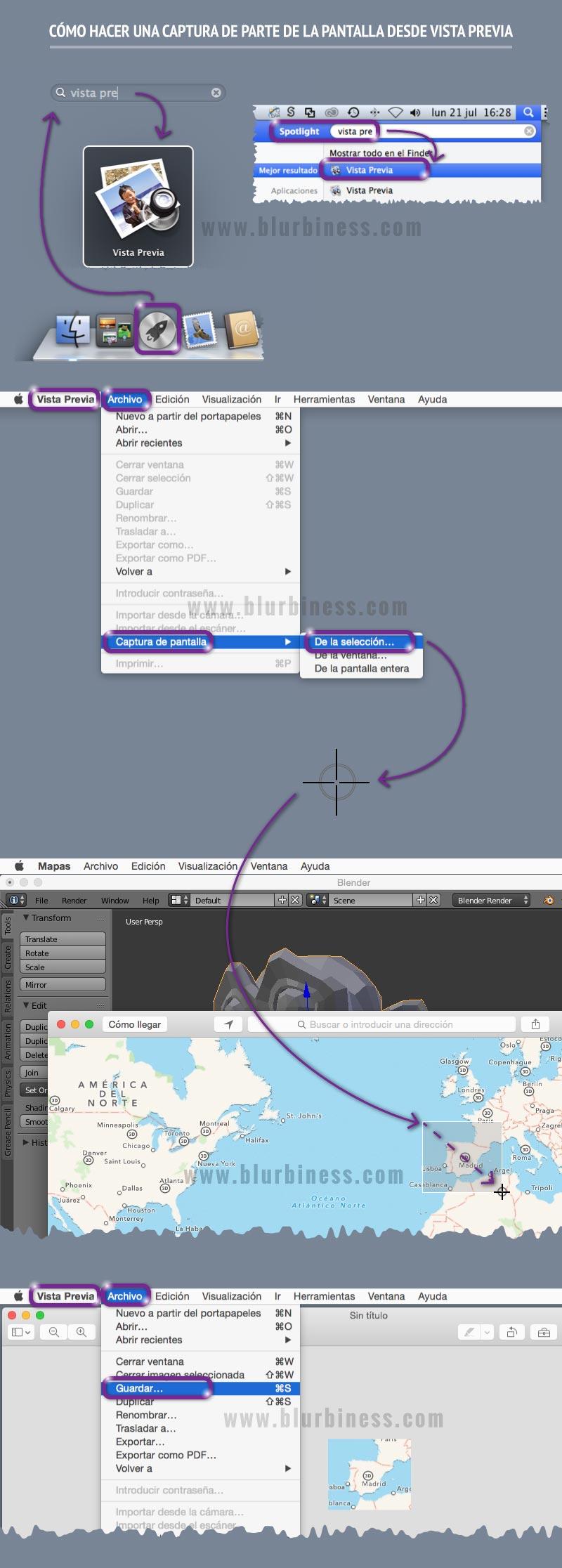 Cómo hacer una captura de parte de la pantalla desde Vista Previa en Mac