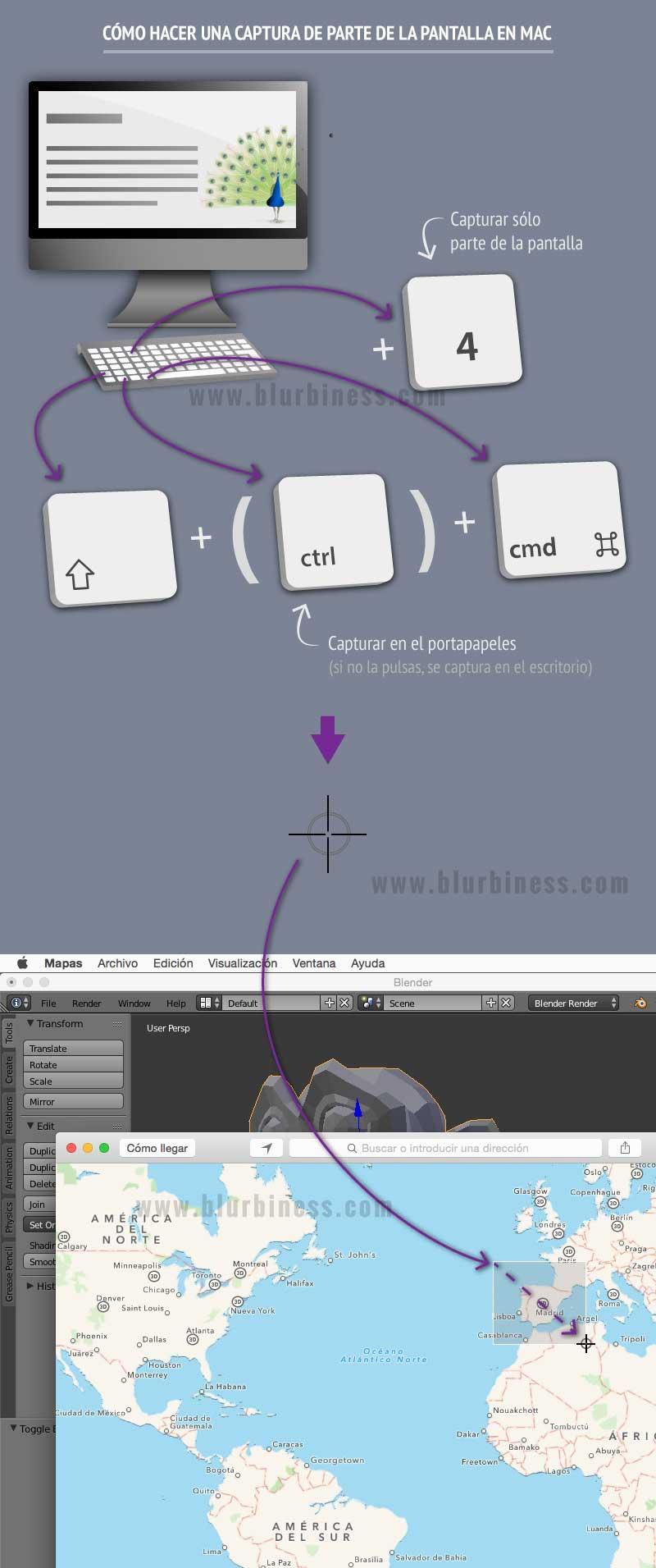 Cómo hacer una captura de parte de la pantalla en Mac
