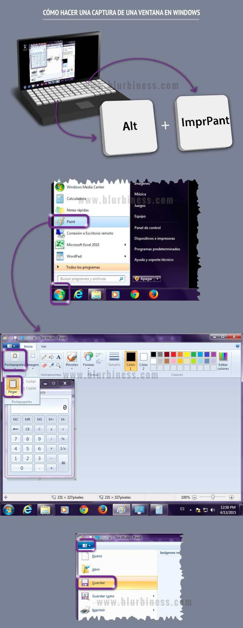 Cómo hacer una captura de una ventana en Windows
