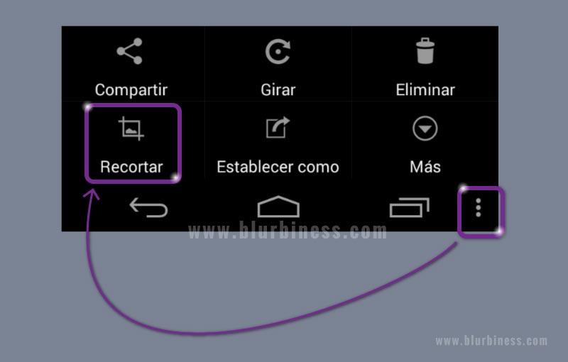 Cómo recortar la imagen capturada en Android