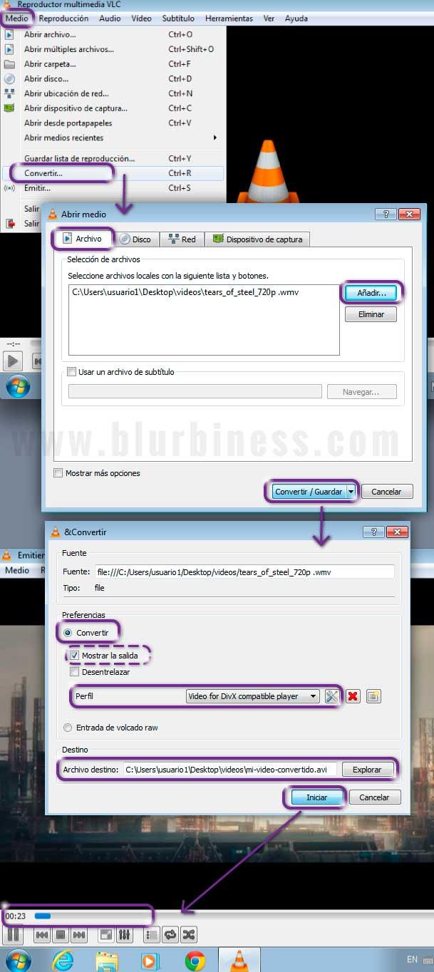Convertir formatos de vídeo con VLC