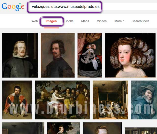 Google search site images
