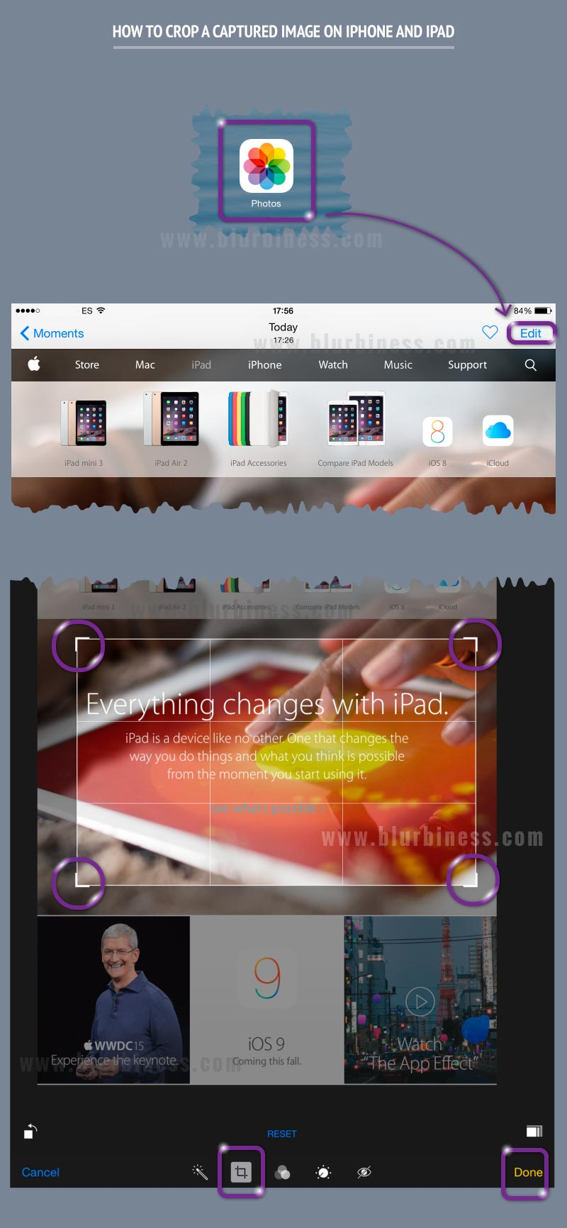 How to crop a captured image on iPhone and iPad