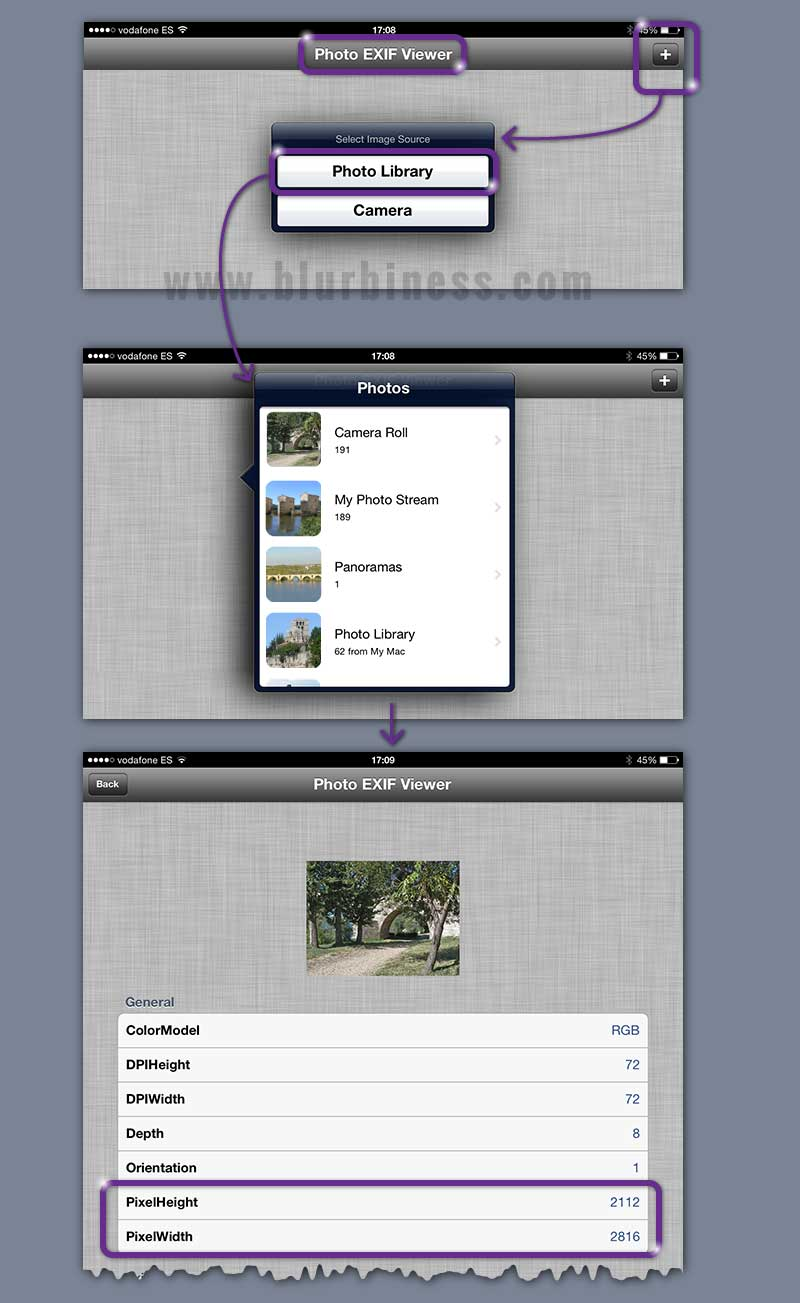 How to know picture resolution in iPhone and iPad