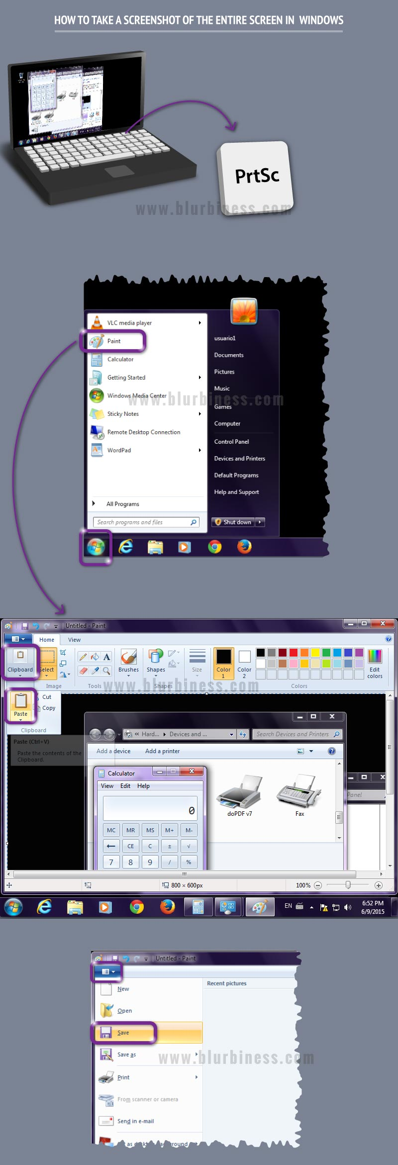 How to take a screenshot of the entire screen in windows