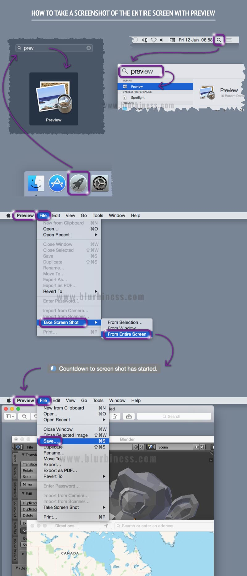 How to take a screenshot of the entire screen with Preview in Mac