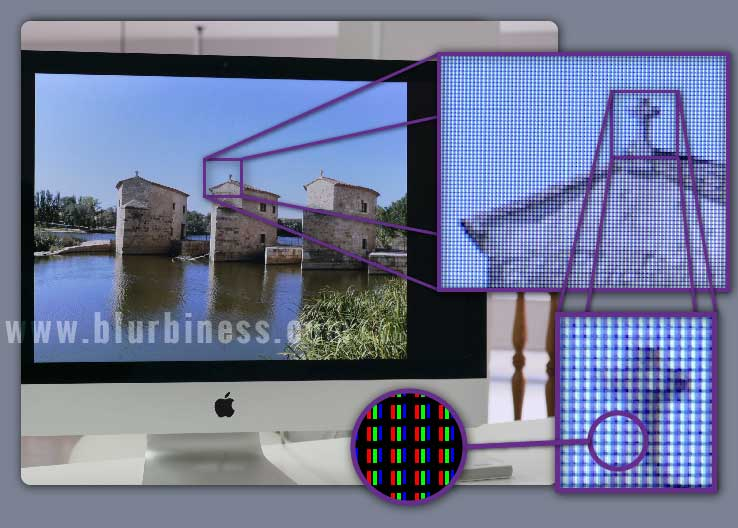 Pixels on a screen