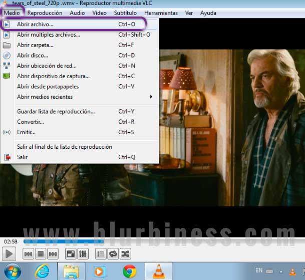 Reproduciendo vídeo con VLC