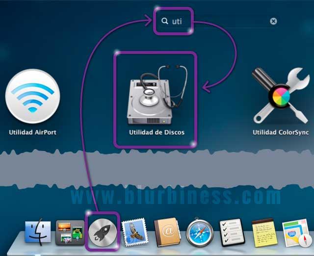Abrir la Utilidad de Discos con el Launchpad en Mac