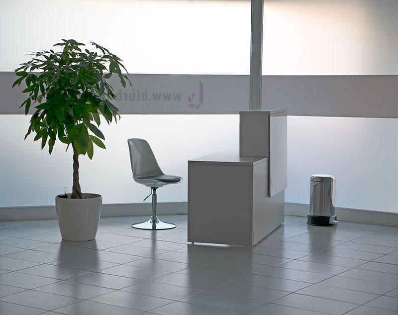 Oficinas Blurbiness zona de recepción