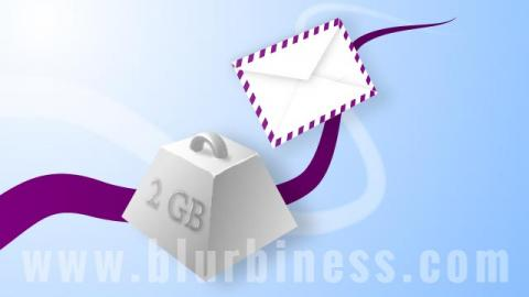 Sending big files by email